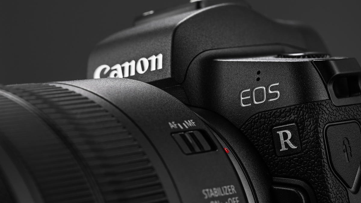 A photo of the Canon EOS R
