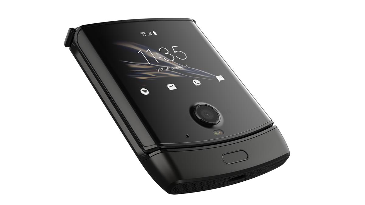 A photo of the Motorola Razr foldable phone.