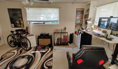 Cam's Work from Home Setup: Home Gym Meets Home Office