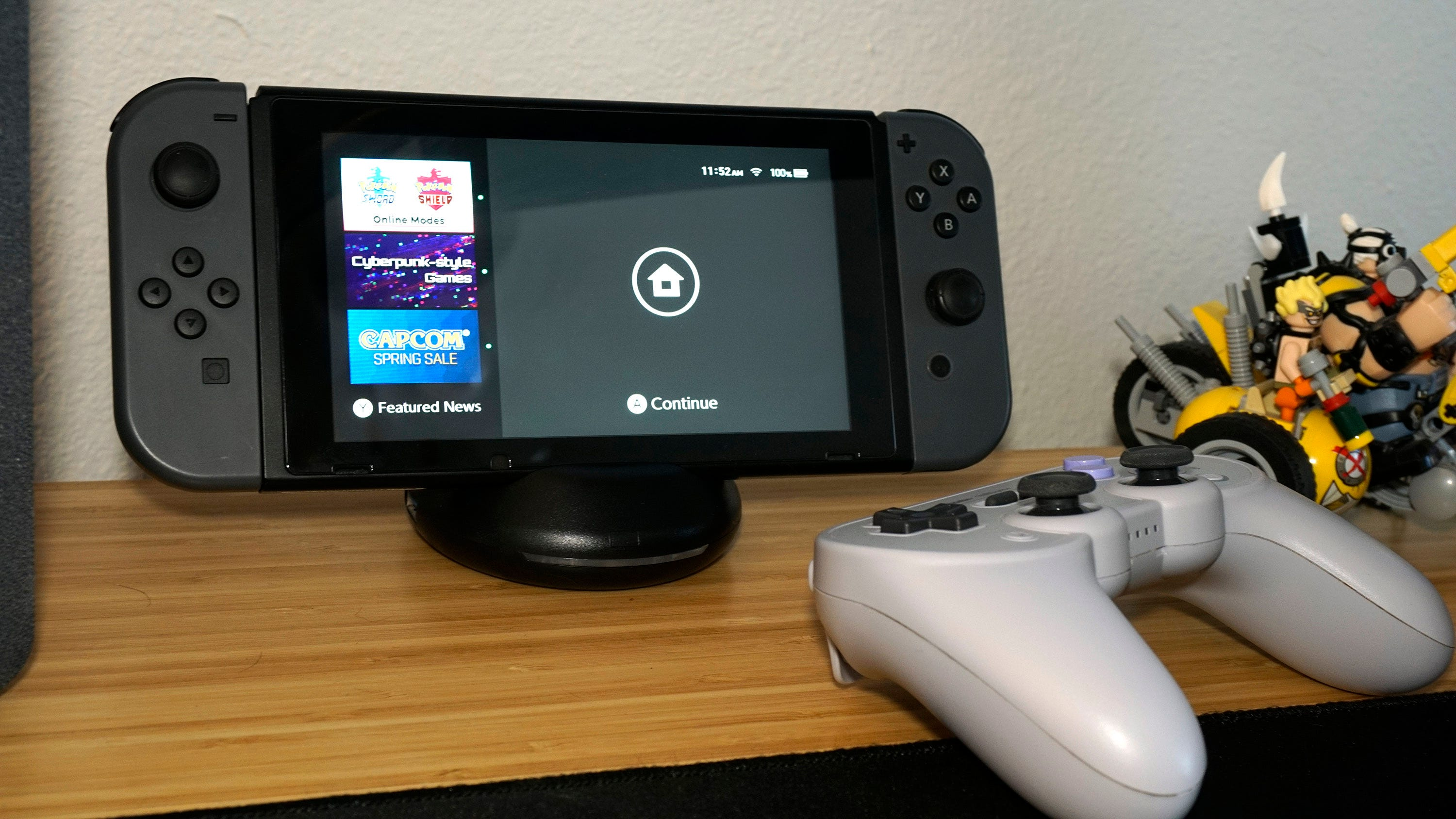 Nintendo Switch and 8BitDo controller.