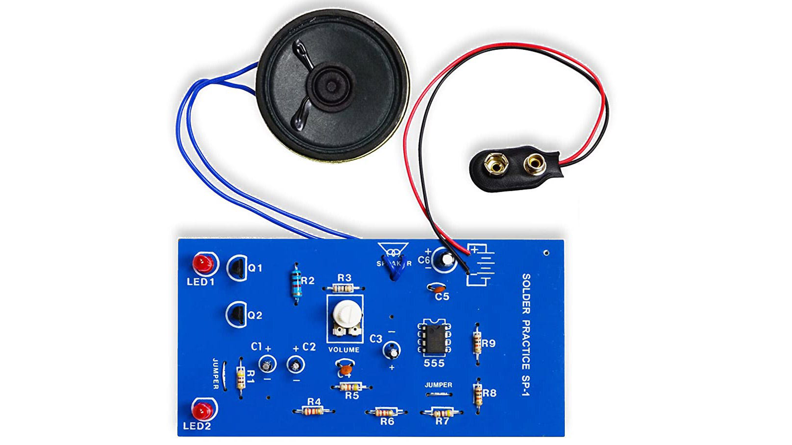 Electronics soldering practice kit