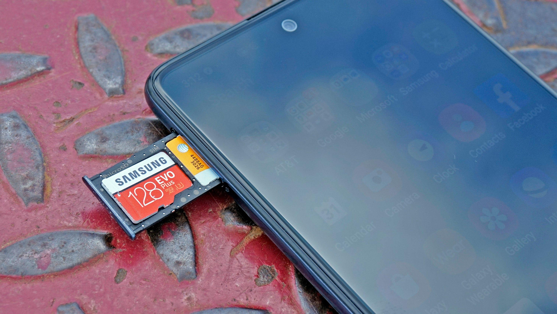 Galaxy A51 MicroSD card slot