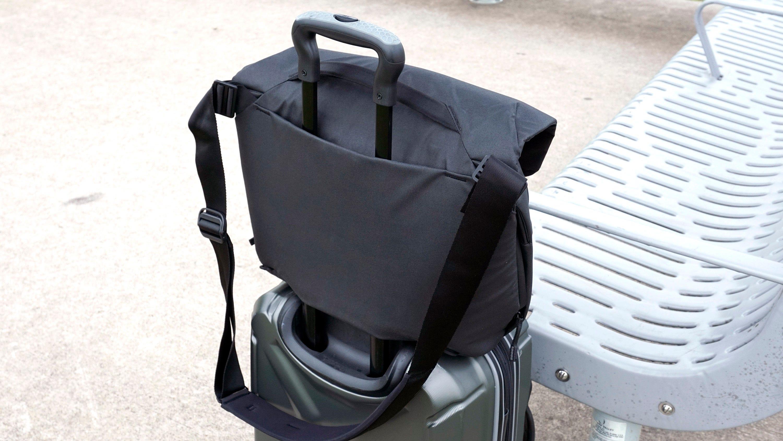 Luggage pass-through loop.
