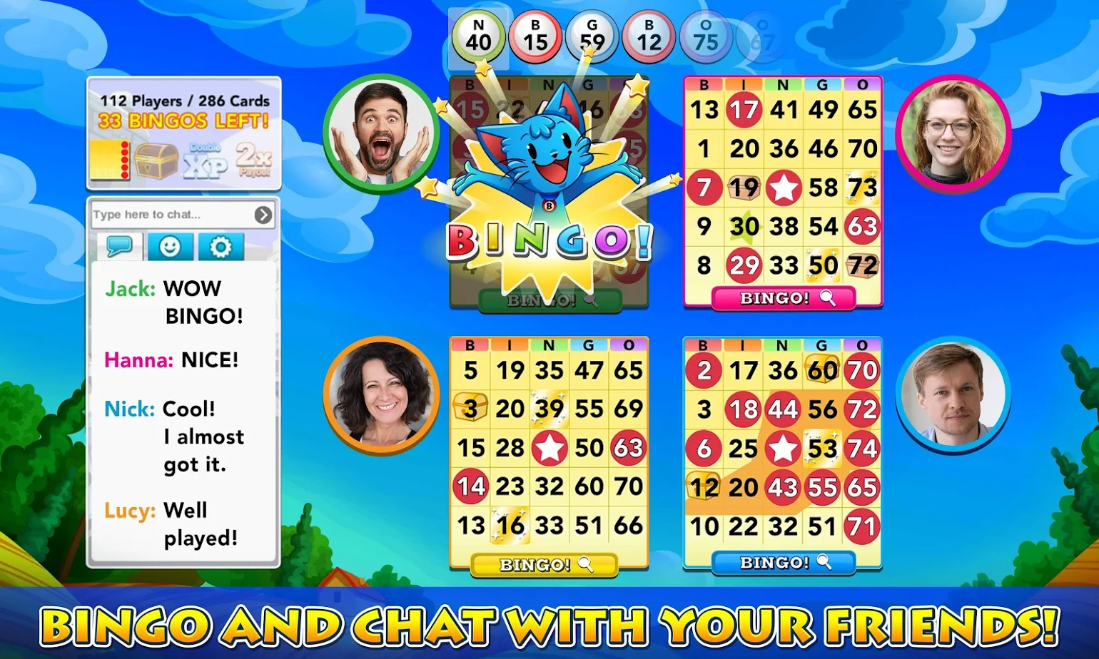 Bingo Blitz bingo mobile game
