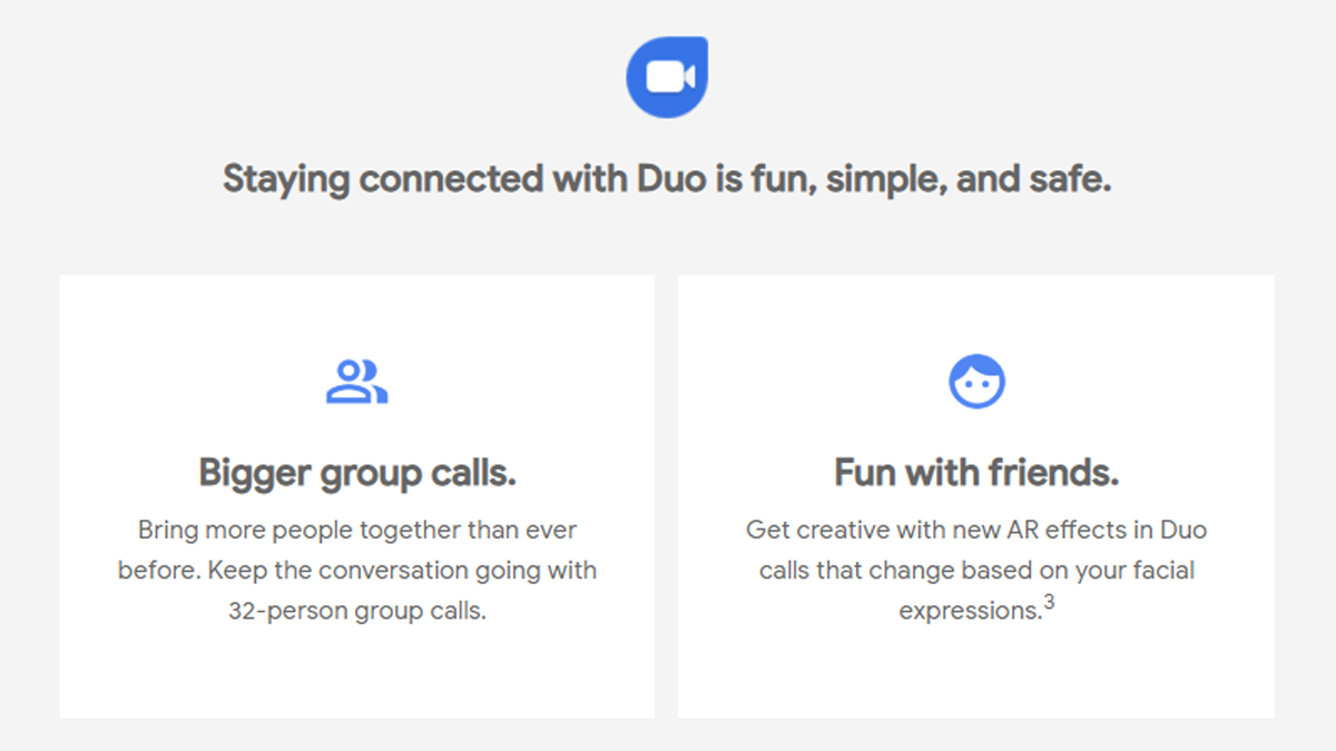 A photo of Google Duo's promotional email.