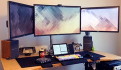 Michael's Work-From-Home Setup: Triple-Monitor Desk Excess