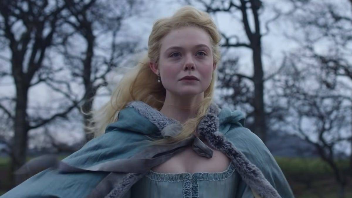 "Elle Fanning as Catherine in Hulu's ""The Great."""