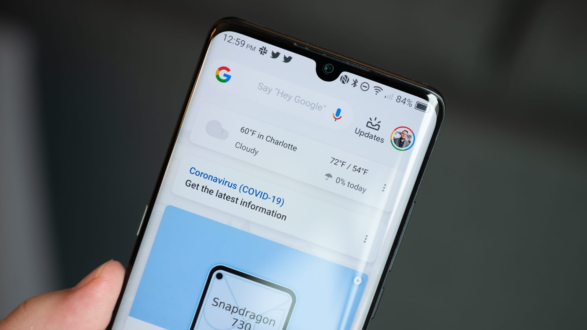 TCL 10 Pro Selfie Camera and Curved Display