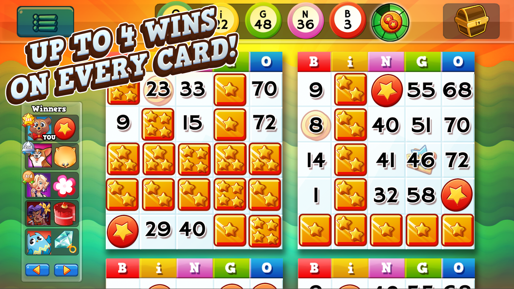 Bingo Pop mobile bingo game with minigames
