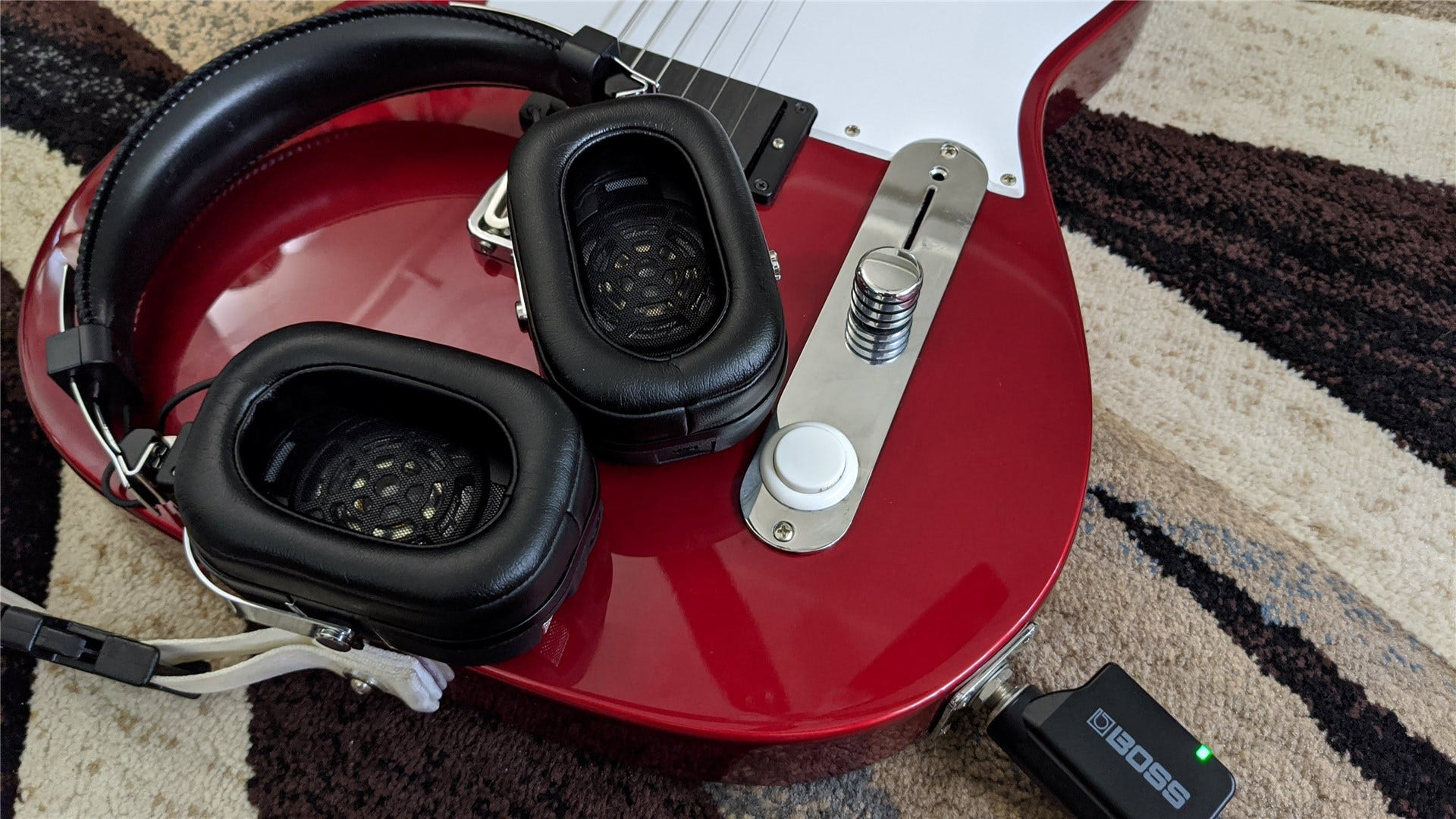 The ear pads on the Waza-Air