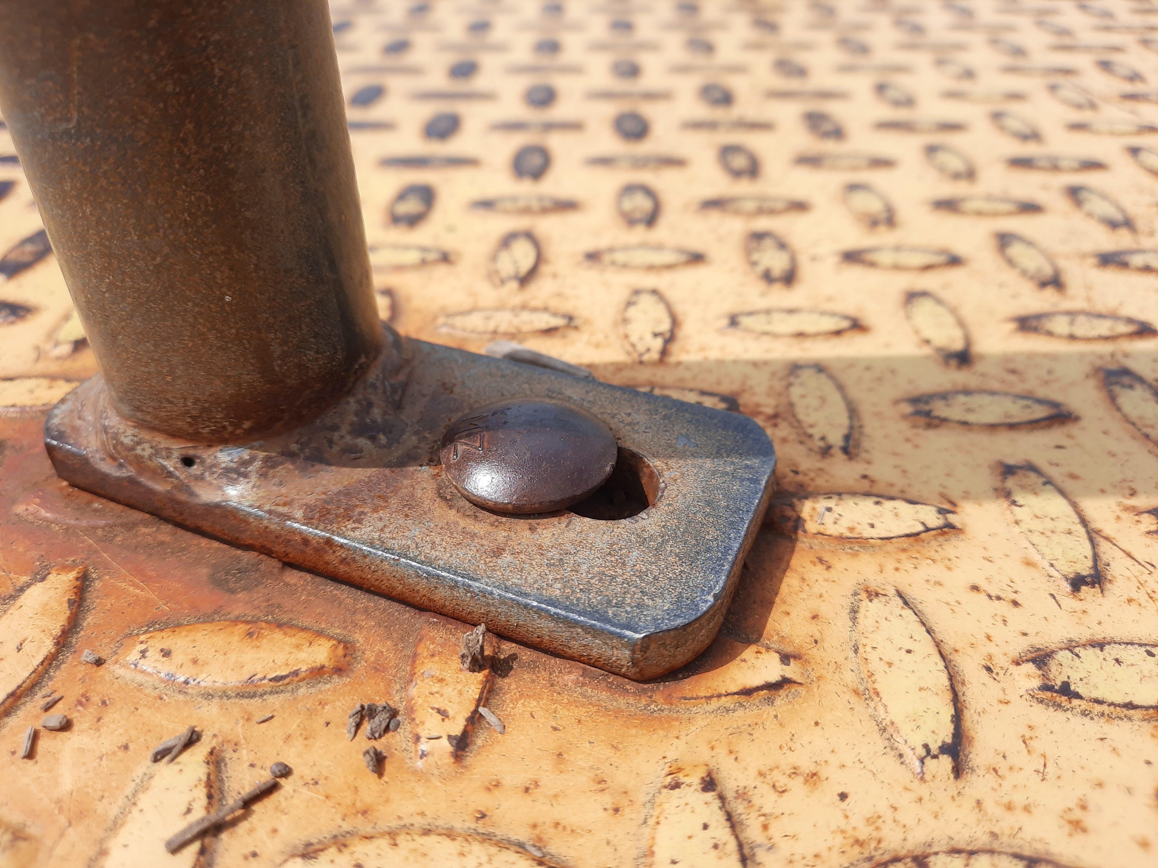 Macro shot of steel bolt