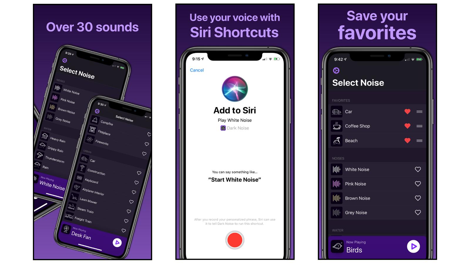 Dark Noise white noise app for apple ios
