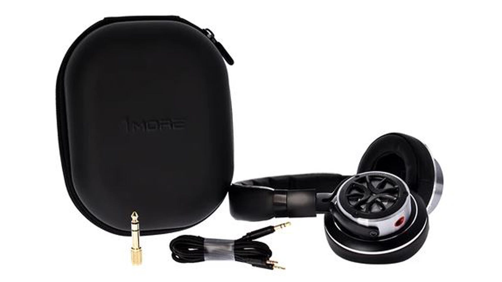 Photo of headphones cable and carry case