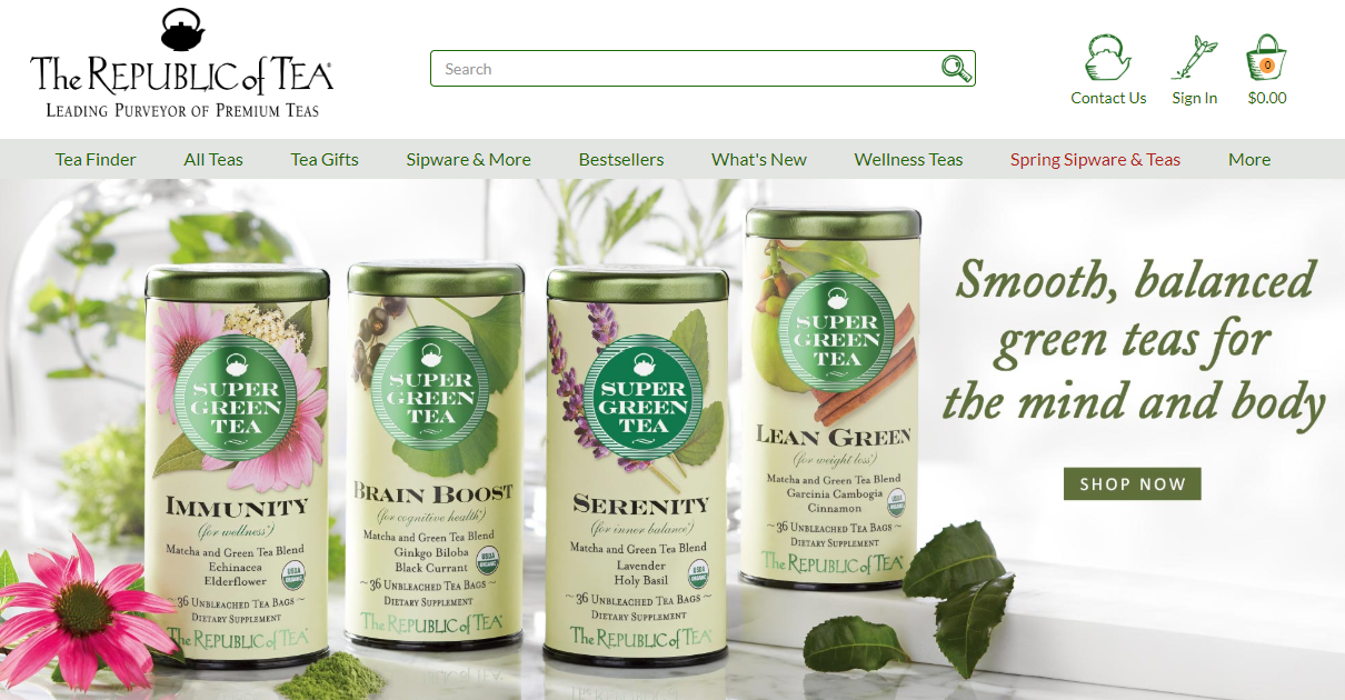 The Republic of Tea monthly tea club green tea new tea best tea subscription