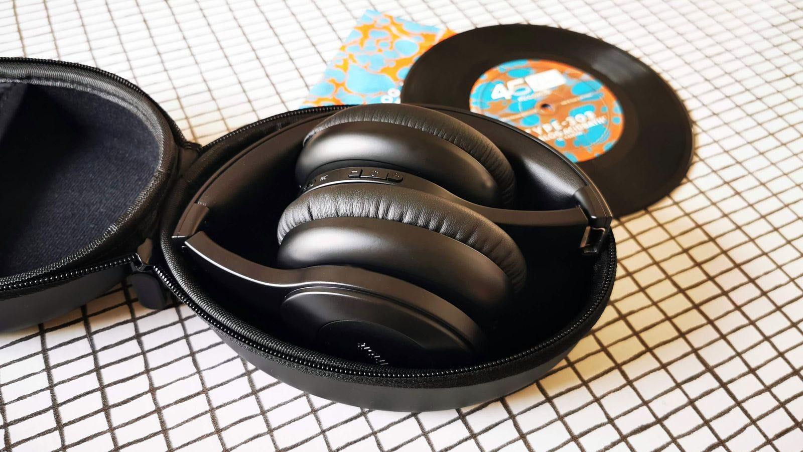 headphones folded into case