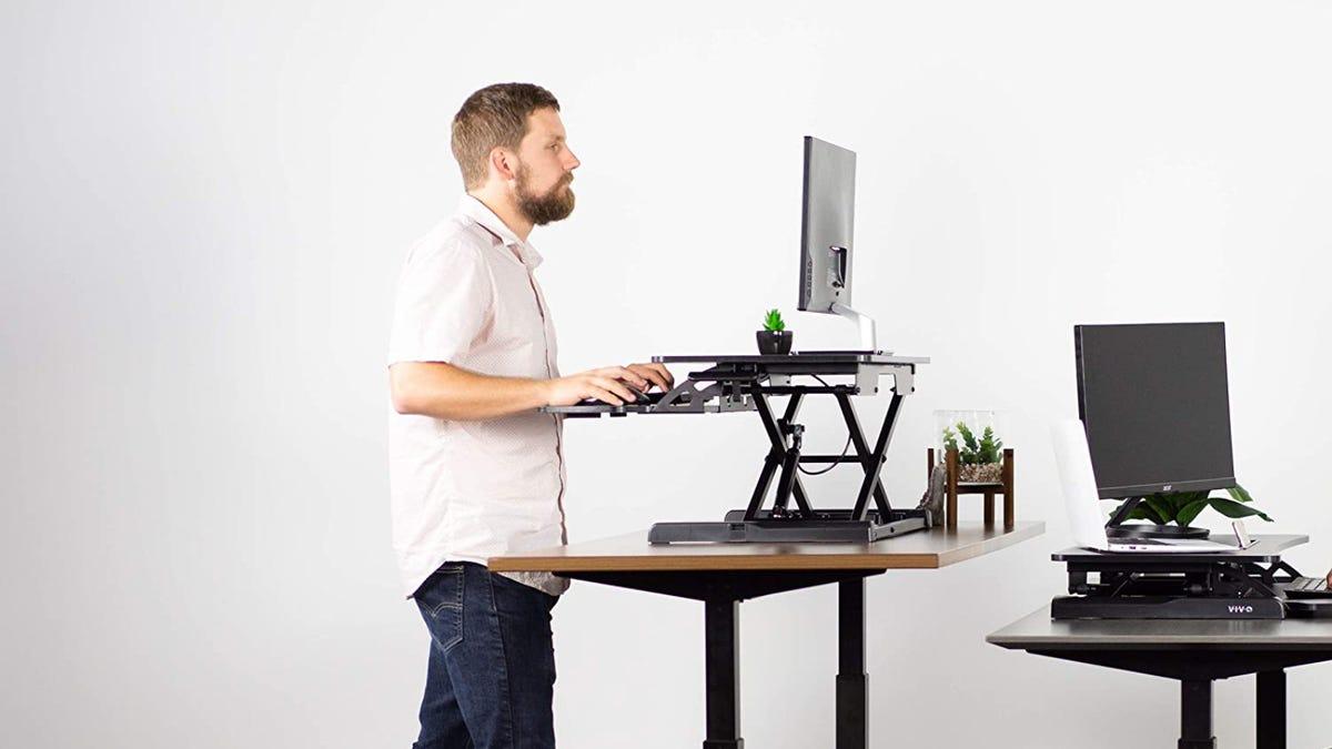 Budget Ergonomic Desk Set up