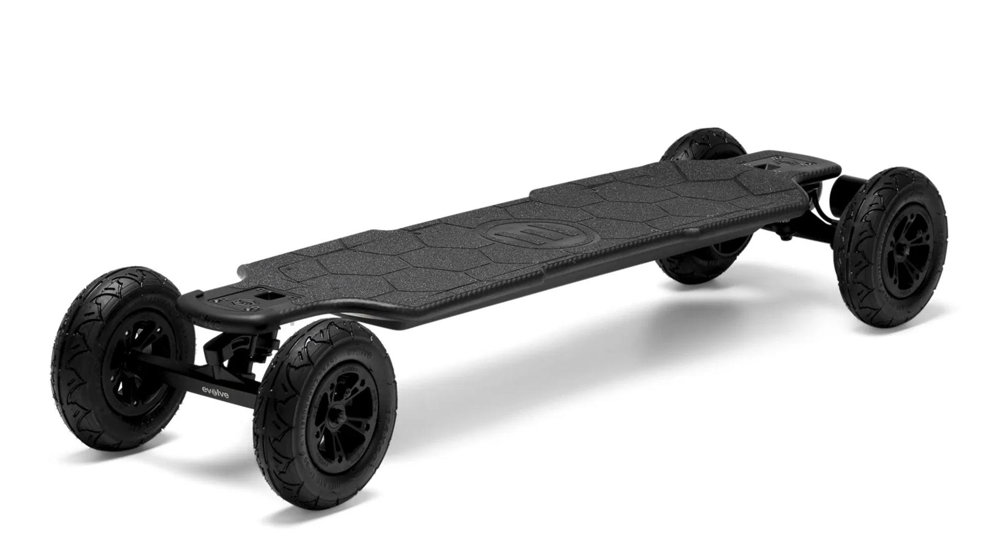 A photo of the carbon fiber Evolve GTR Longboard