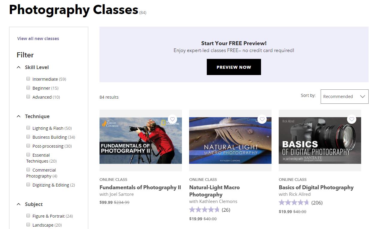 Bluprint Digital Photography Courses