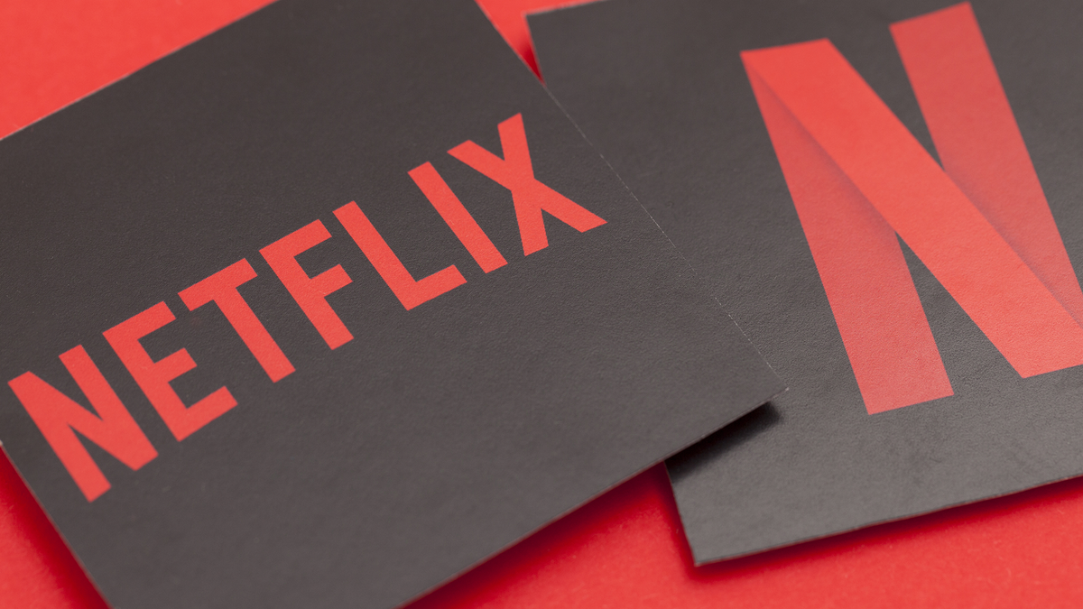 Photos of the Netflix logo.