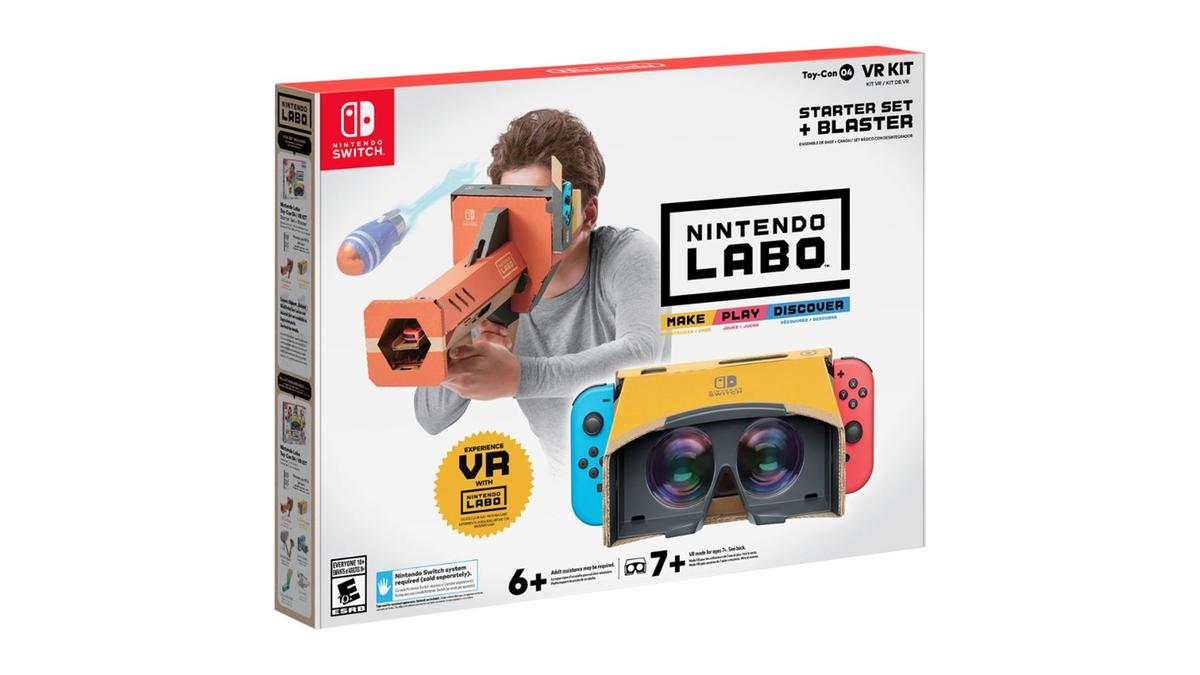 A photo of the Nintendo Labo VR set.
