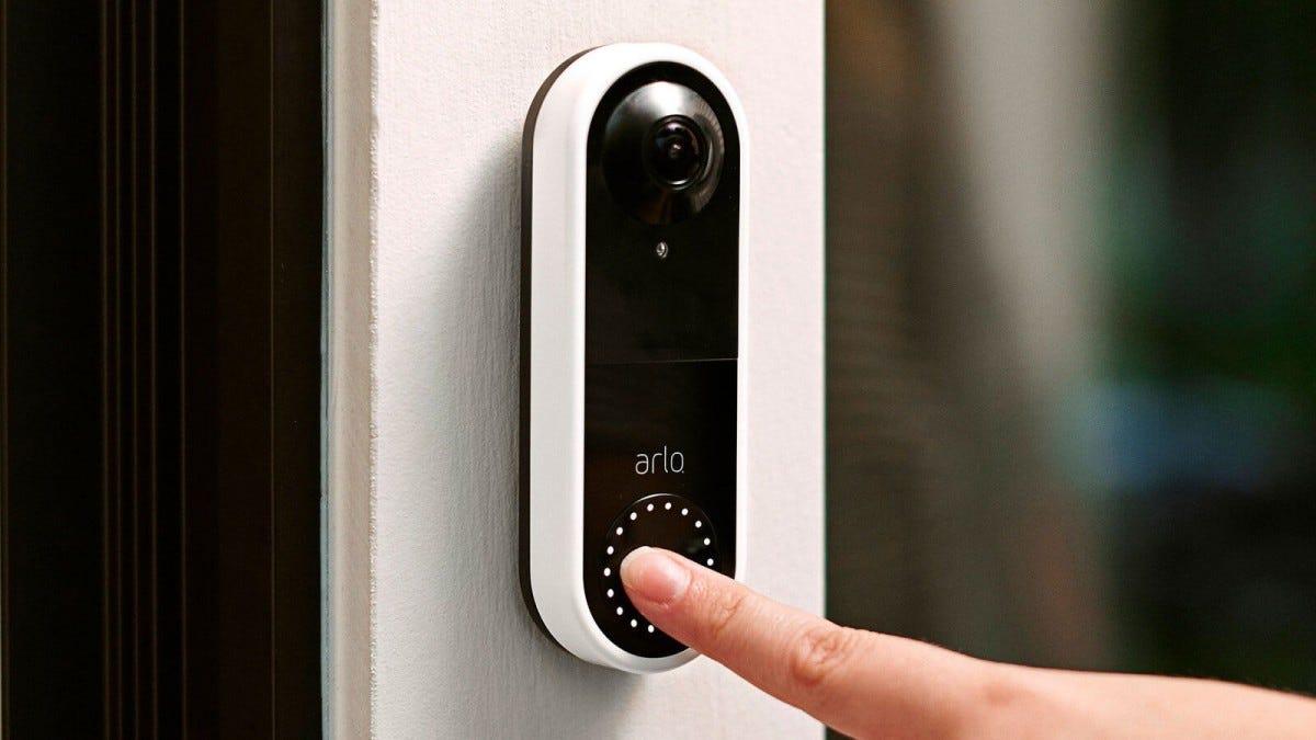 A photo of the Arlo video doorbell.