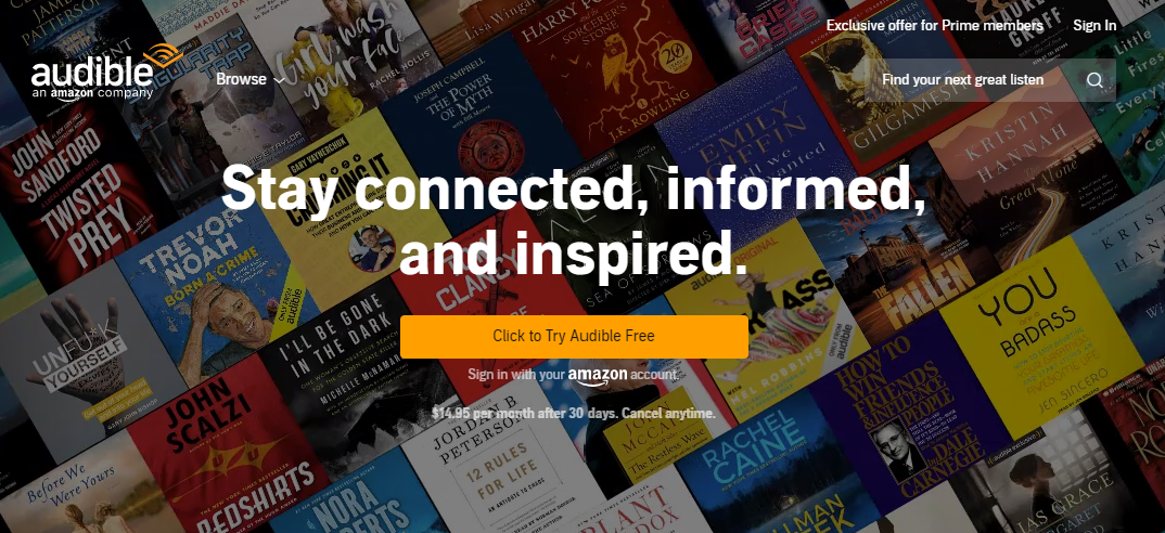 Audible audiobook magazine subscription for Father's Day 2020