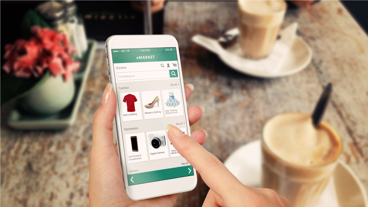 Smartphone online shopping ecommerce website buy used stuff online how to sell your used stuff online