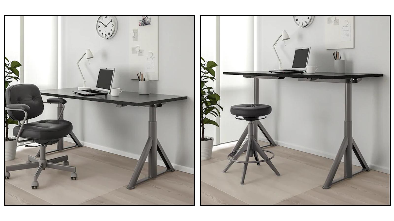 Ikea Idasen automatic electric standing desk minimal design sturdy Scandinavian decor