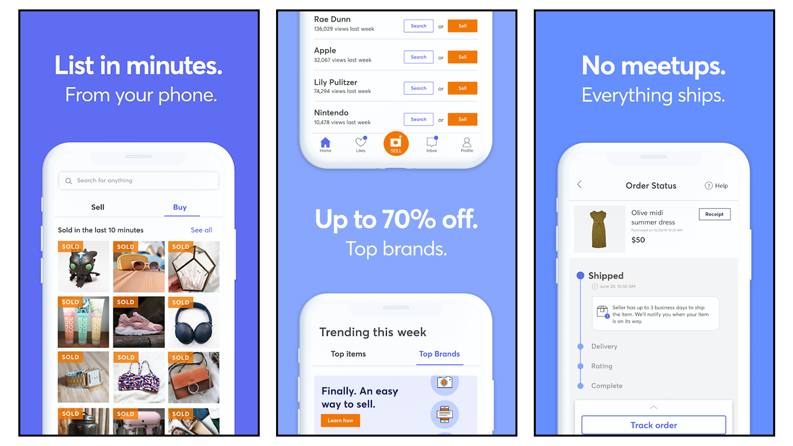 Mercari best used goods online shop for shipping no in-person meet ups