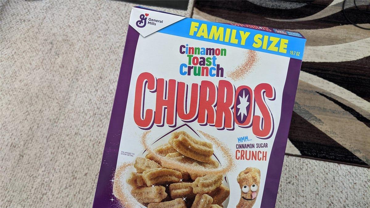 The Cinnamon Toast Crunch Churros Family Size Box