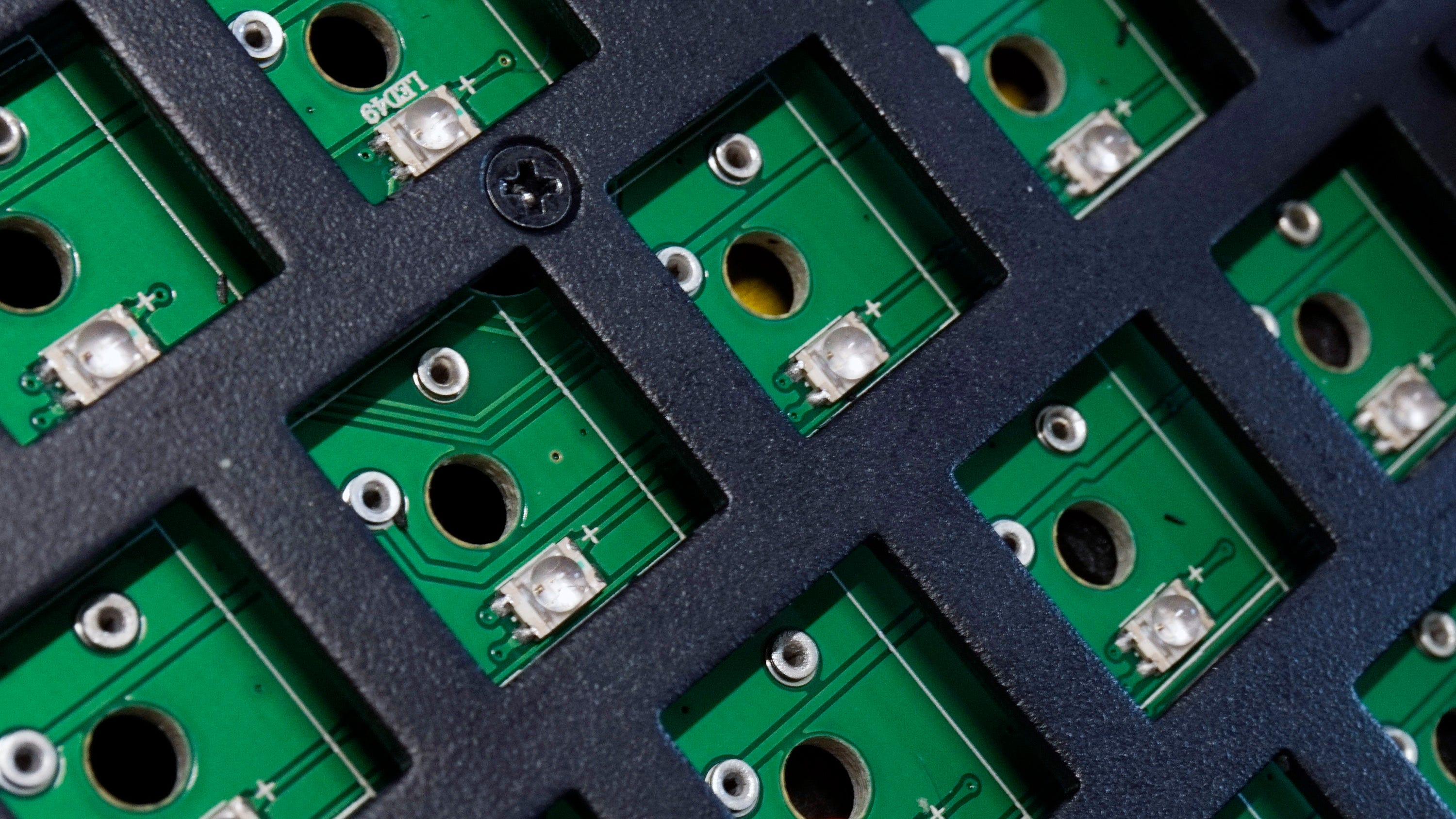 The LEDs on the circuit board are much too tall and wide for many switches to fit.
