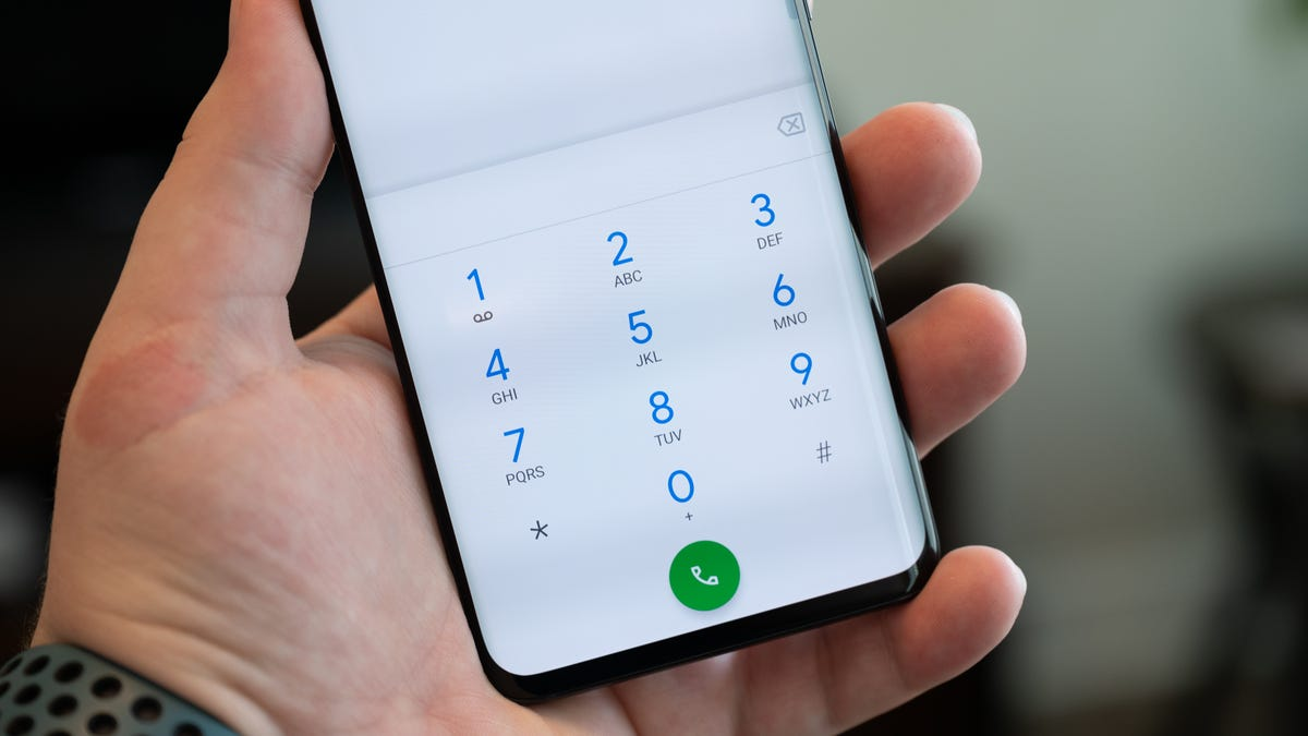 Google Phone app dialer running on a TCL 10 Pro