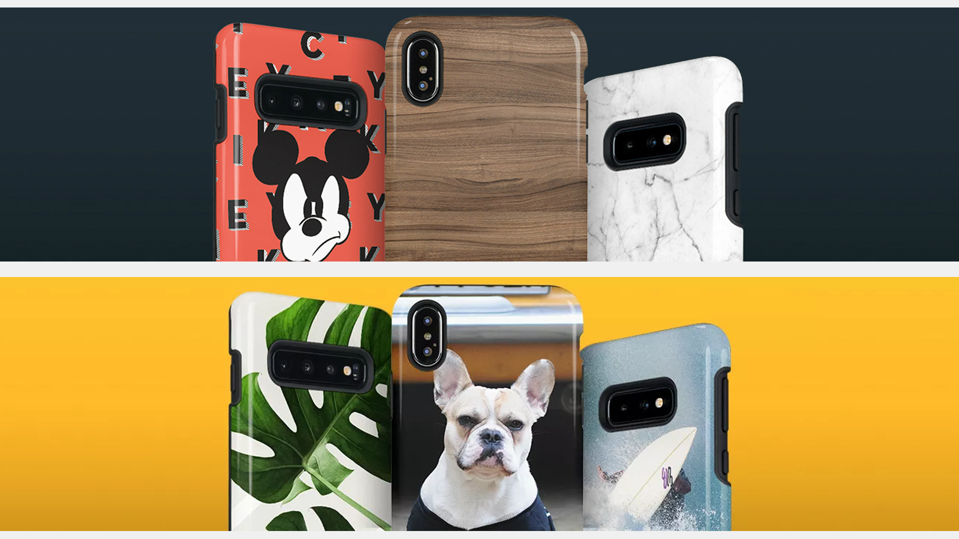 Six custom phone cases from SkinIt