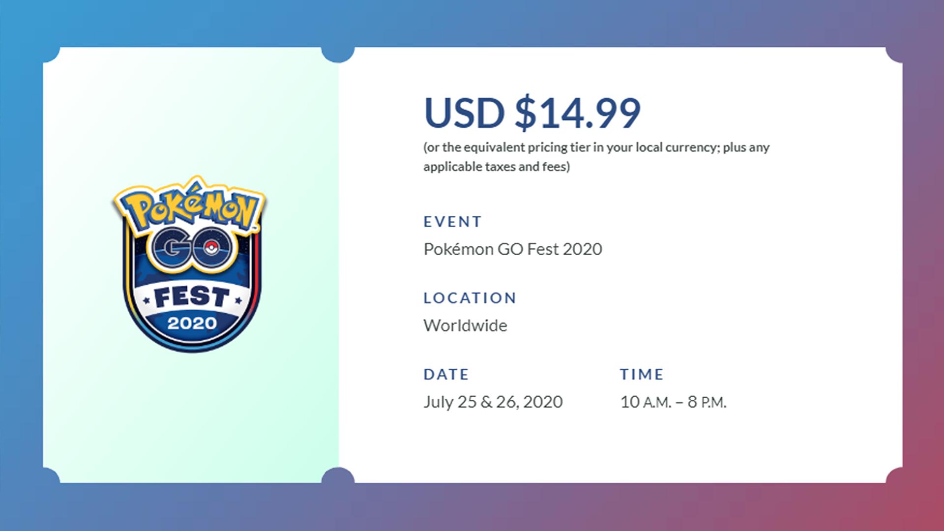 A Pokemon Go Fest digital ticket.
