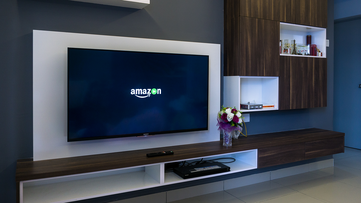 A TV with the Amazon Prime Video logo.