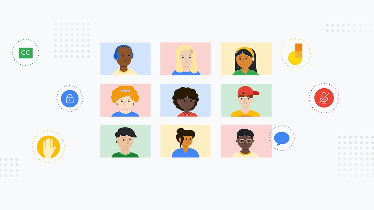 An illustration of a Google Meet clasroom