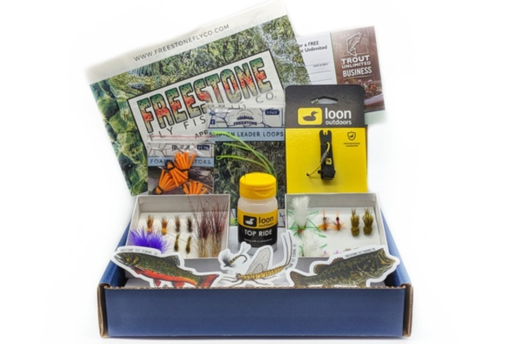 Freestone Fly Fishing Company best fishing subscription box for anglers flies and patterns for trout fly tying warm water salmon steelhead