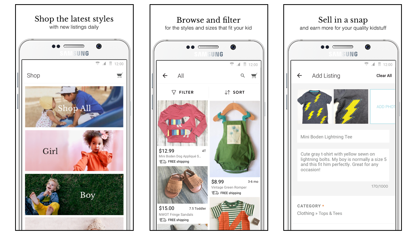 Kidizens buy and sell used childrens clothing online