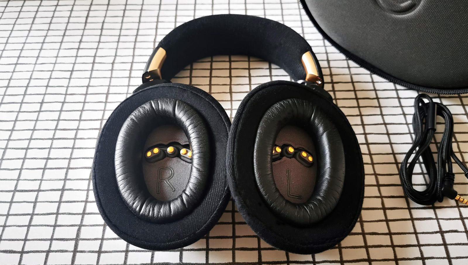 EEG sensors in ear cups
