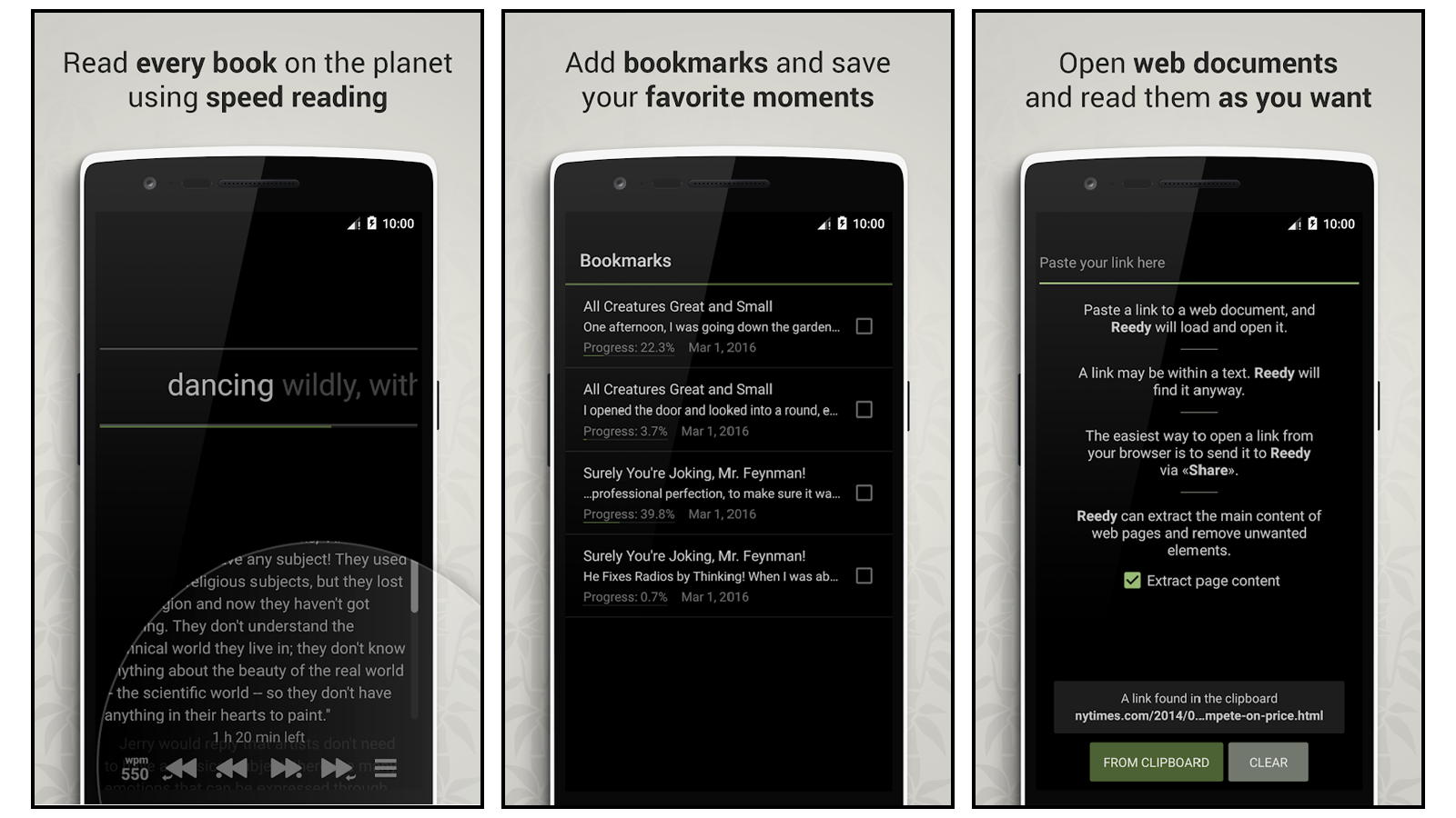 Reedy best speed reading app for android chrome extension