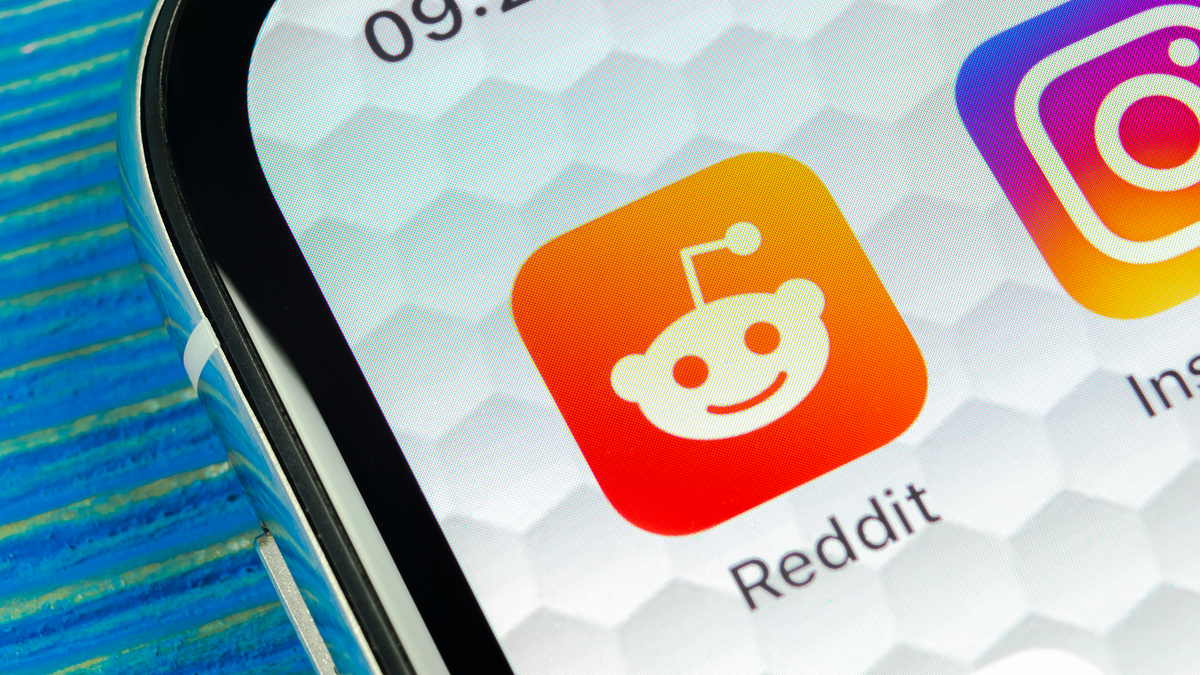 A photo of the Reddit app on an iPhone