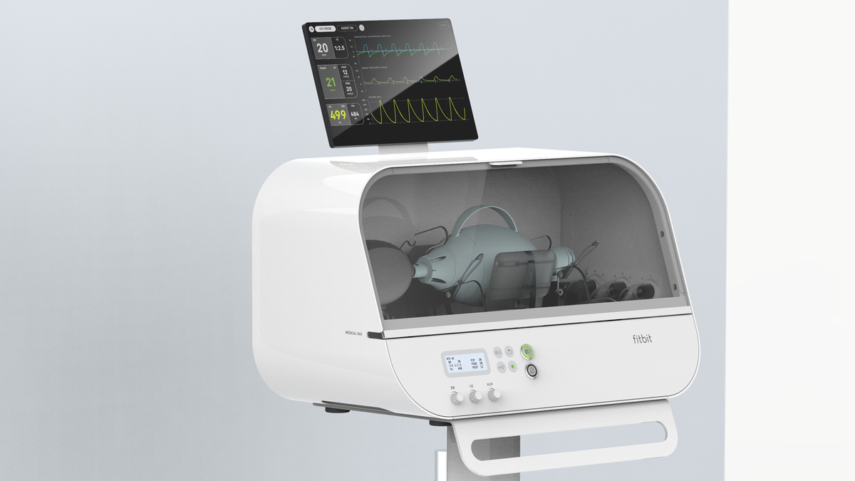 A photo of the Fitbit Flow ventilator.