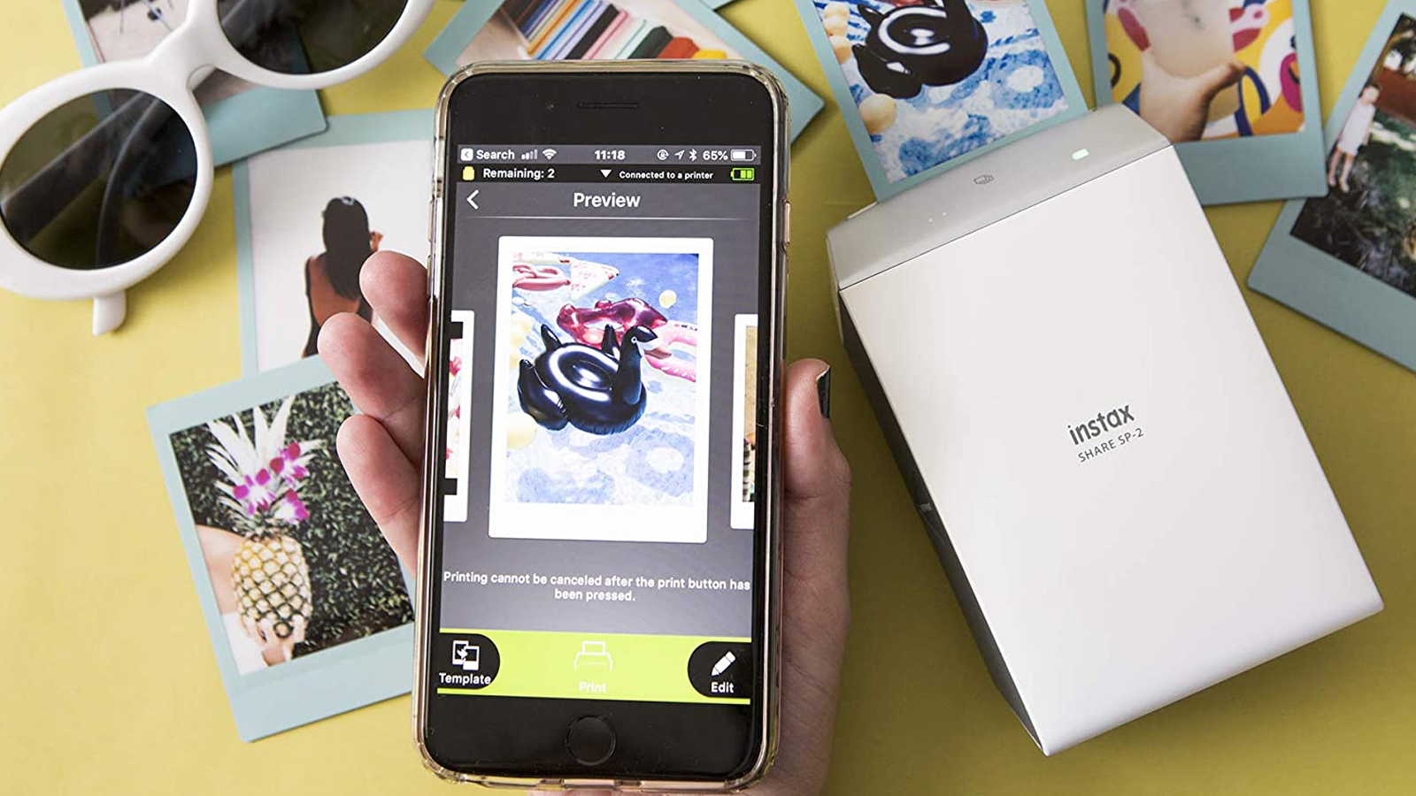 Fujifilm Instax best highest-quality portable photo printer
