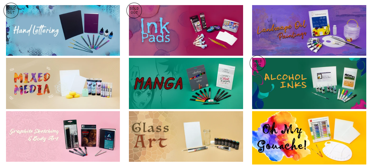 Smart Art Box art supply subscription box with projects and tutorials youtube artists