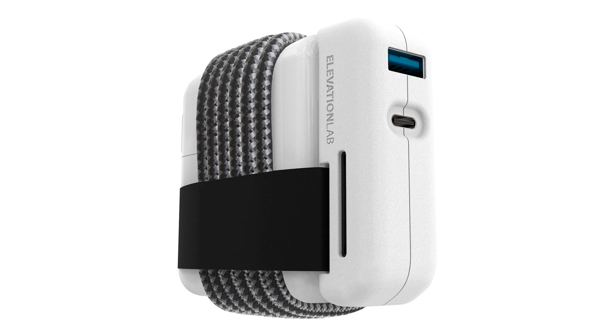EvolutionHub MacBook charger add-on with coiled cable