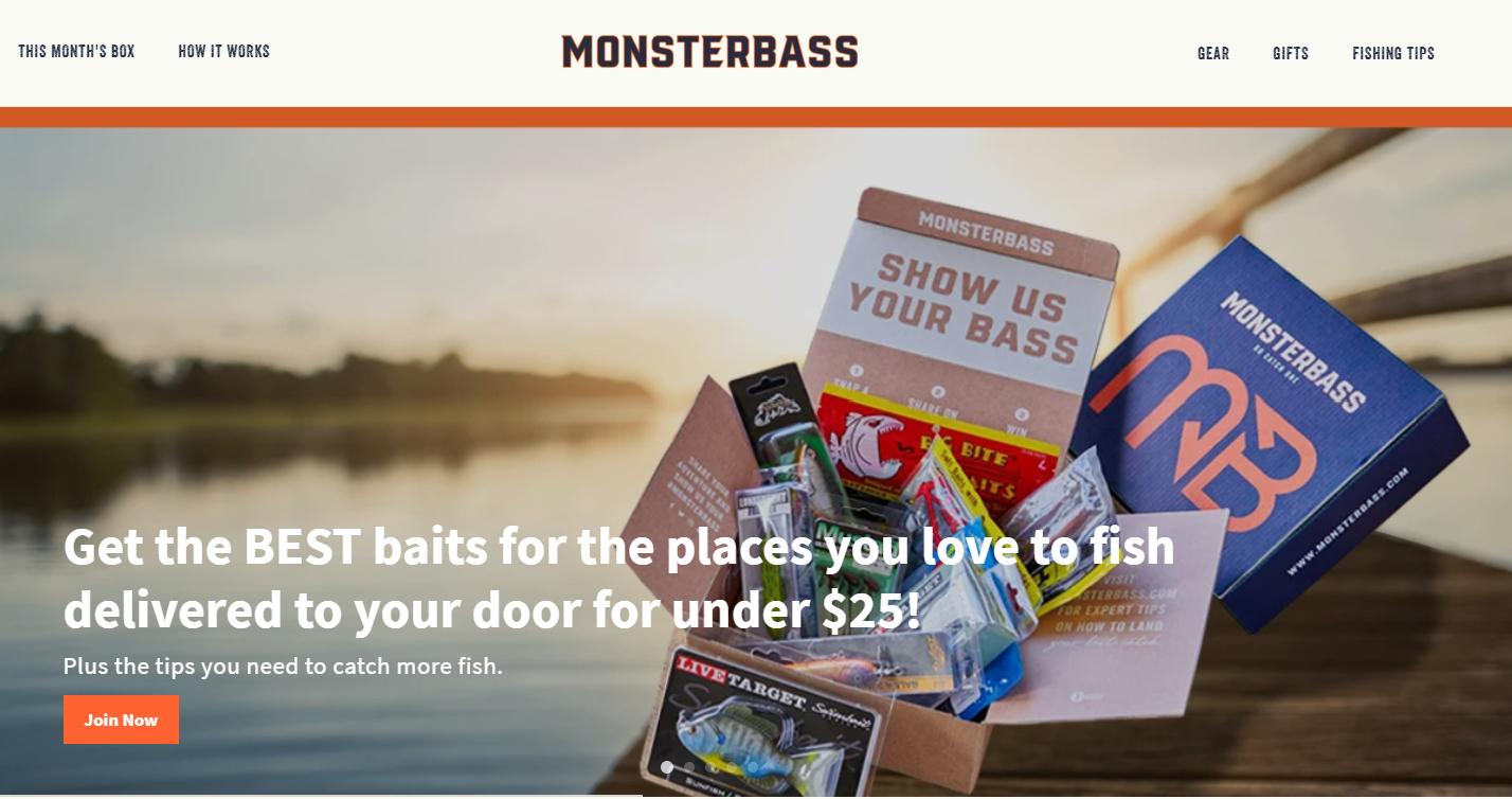 Monsterbass best subscription box for bass fishing regional big bass fishing bass bait