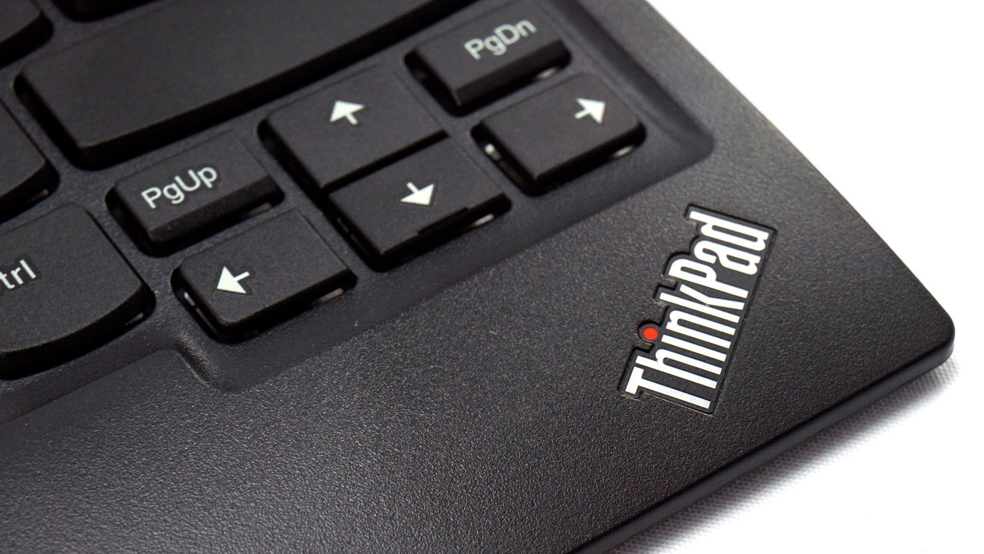 ThinkPad logo on keyboard