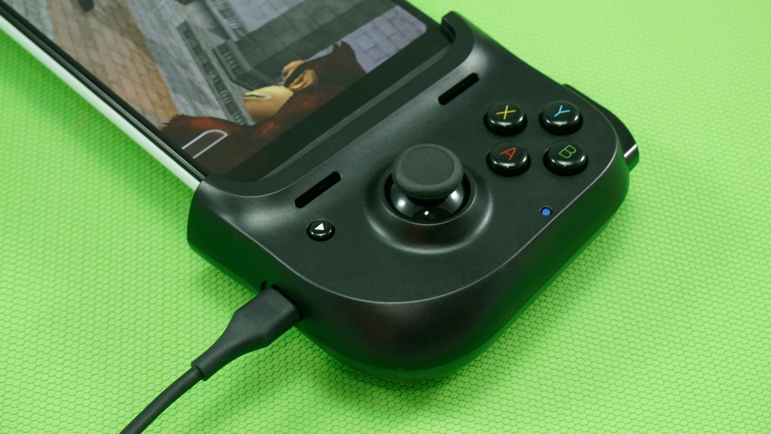 Razer Kishi with charger attached.