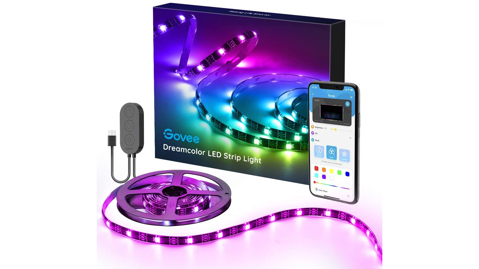 Govee LED Strip Lights for your desk, monitor, TV, or anywhere else fun colors for your office