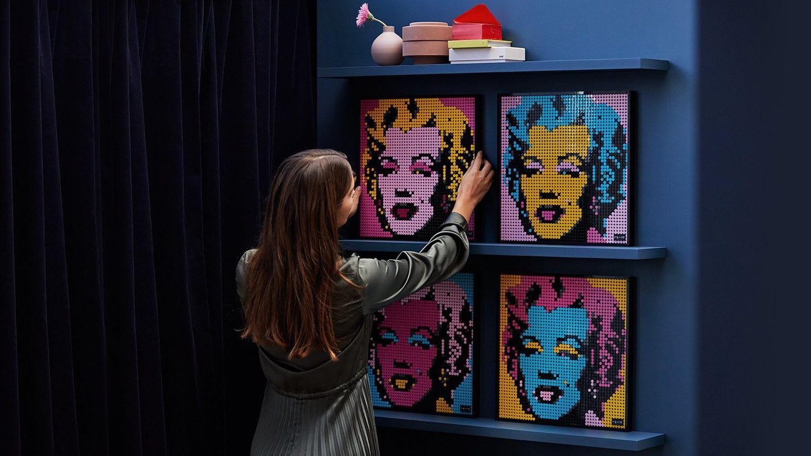 LEGO Art featuring Marilyn Monroe